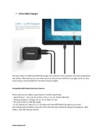 2 port wall charger