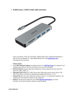 alora 5 port 3 usb 3 0 with cable connector