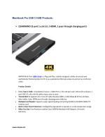 mackbook pro usb c hub products
