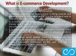 what is e commerce development