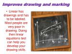 improves drawing and marking