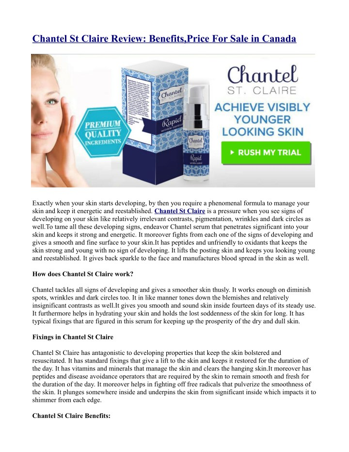 chantel st claire review benefits price for sale n.