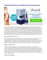 chantel st claire review benefits price for sale