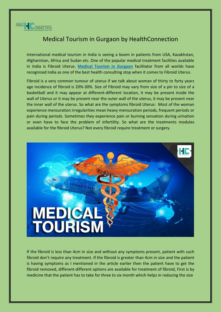 medical tourism in gurgaon by healthconnection n.
