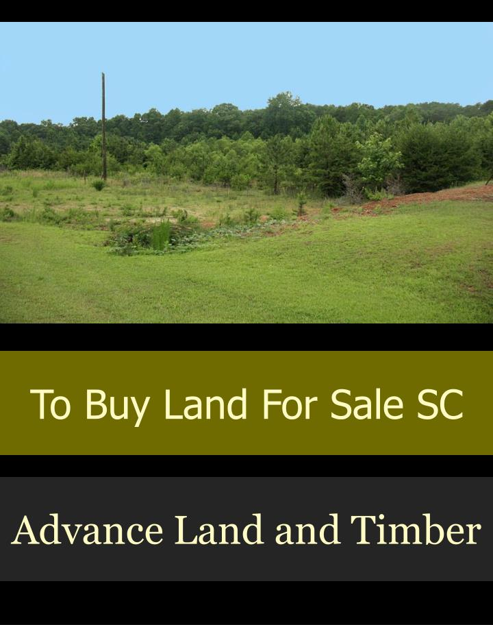 to buy land for sale sc n.