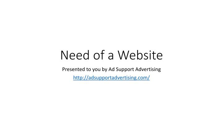 need of a website n.