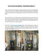 gas furnace installation read more about it