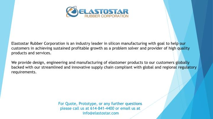 PPT - Various Type of Silicone Rubber Shapes By Elastostar