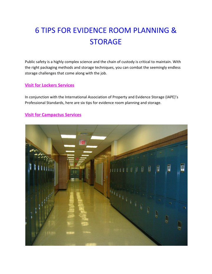 6 tips for evidence room planning storage n.