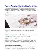 top 10 wedding planning tips for brides