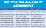 get help for all kind of assignments