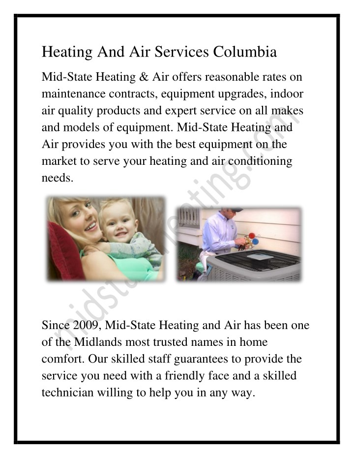 heating and air services columbia n.
