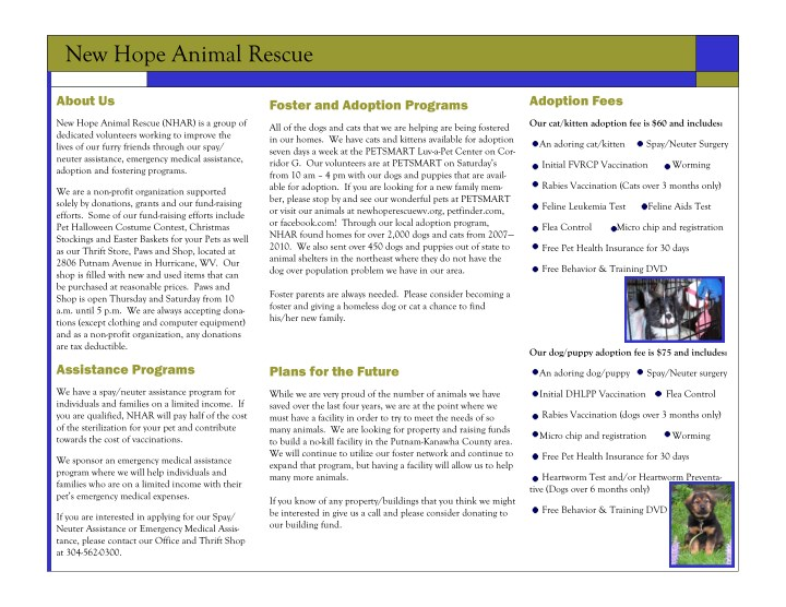 new hope animal rescue n.