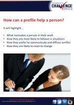 how can a profile help a person it will highlight