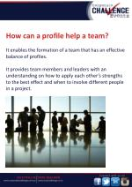 how can a profile help a team it enables