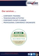 our services corporate training team building