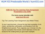 hum 102 predictable world hum102 com 9