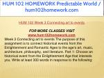 hum 102 homework predictable world hum102homework 12