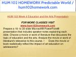 hum 102 homework predictable world hum102homework 13