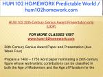 hum 102 homework predictable world hum102homework 2