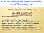 hum 102 homework predictable world hum102homework 4