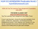 hum 102 homework predictable world hum102homework 9