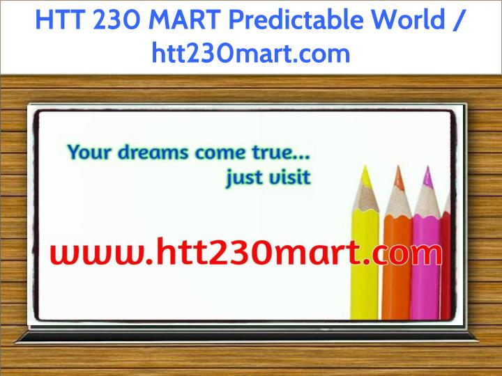 htt 230 mart predictable world htt230mart com n.