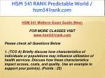 hsm 541 rank predictable world hsm541rank com 2