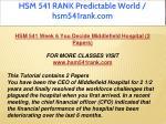 hsm 541 rank predictable world hsm541rank com 21