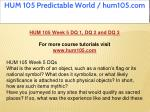 hum 105 predictable world hum105 com 10