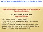 hum 105 predictable world hum105 com 3