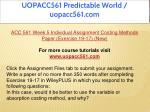 uopacc561 predictable world uopacc561 com 21