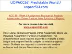 uopacc561 predictable world uopacc561 com 25