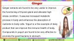 ginger extracts are found to be very useful