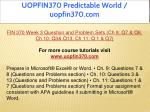 uopfin370 predictable world uopfin370 com 12