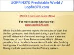 uopfin370 predictable world uopfin370 com 2
