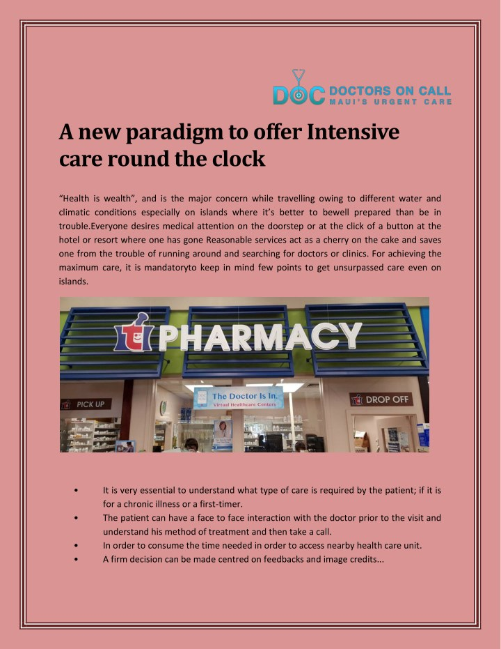 a new paradigm to offer intensive care round n.