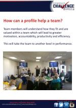 how can a profile help a team team members will