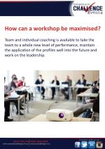 how can a workshop be maximised team