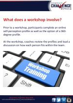 what does a workshop involve prior to a workshop