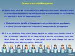 entrepreneurship management q1 seems like