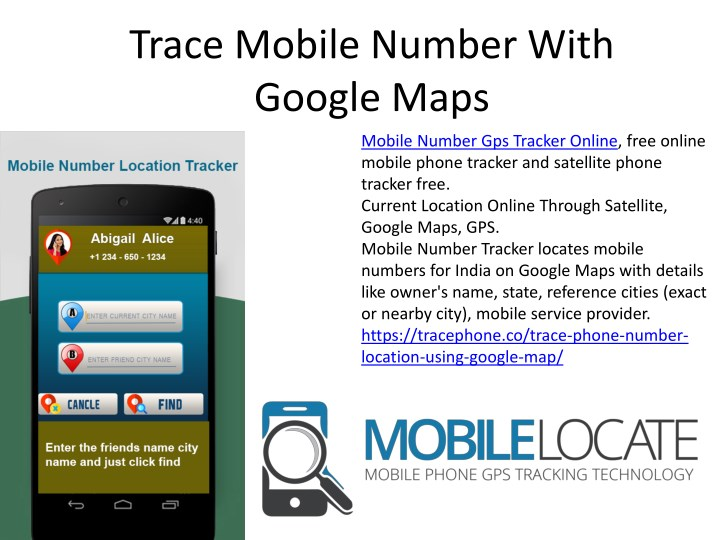trace mobile number with google maps n.