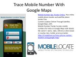 trace mobile number with google maps
