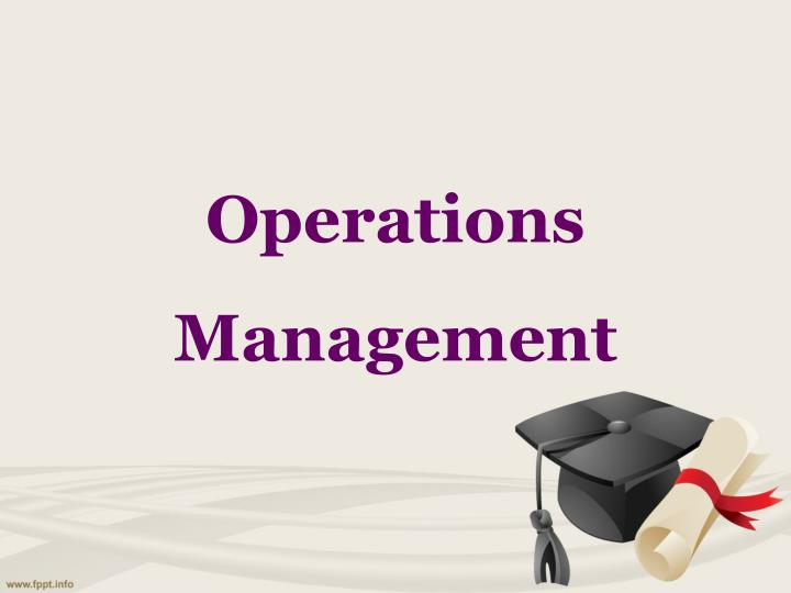 operations management n.