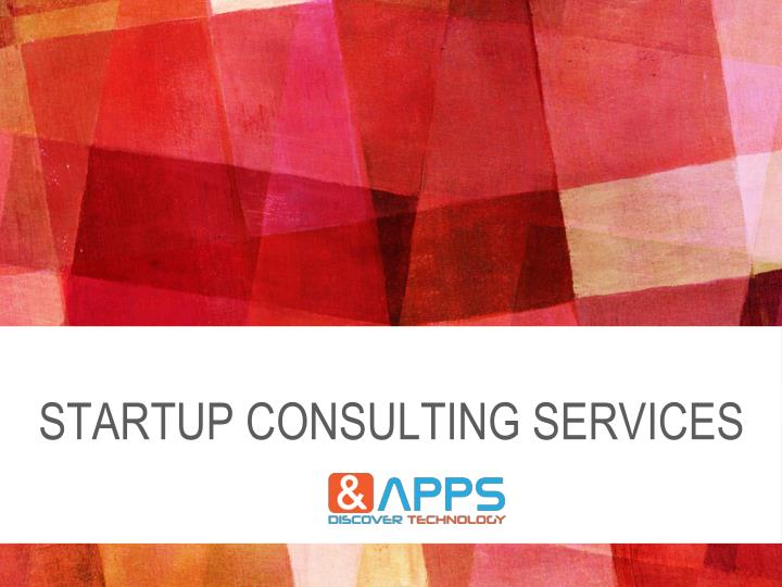 startup consulting services n.