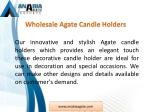 wholesale agate candle holders