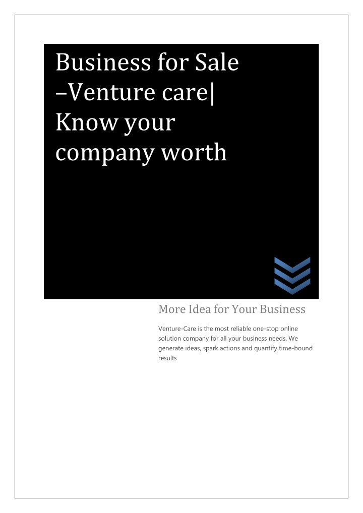 business for sale venture care know your company n.