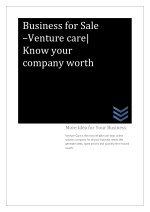 business for sale venture care know your company