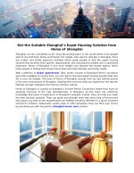 get the suitable shanghai s expat housing