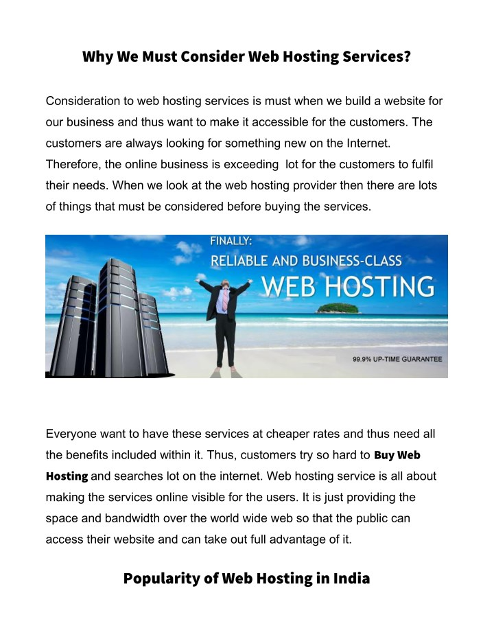 why we must consider web hosting services n.